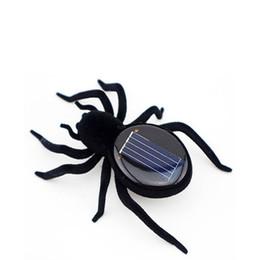 Nuovi giocattoli pazzeschi online-Novità giocattoli di alta qualità di energia solare 8 gambe nero pazzo ragno bambini giocattolo energia solare giocattolo C4437