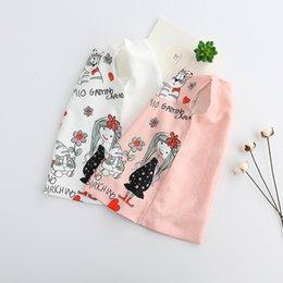 Wholesale Korean Girls Straight Dress - Cartoon Girls Princess Dress New 2018 Cat Flower Love Heart Printed Children Spring Dresses Korean Flower Girl Party Dress Kids Clothes C282