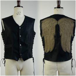 2019 motocicletas sexy The Walking Dead Daryl Dixon Chaleco alas de ángel chaqueta chaleco de la motocicleta de disfraces de Halloween para hombres adultos Y1892611 rebajas motocicletas sexy