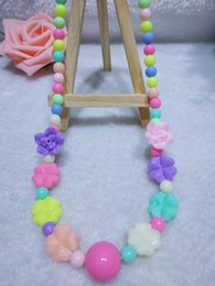 Wholesale wholesale silicone bead necklaces - Kids Accessories Silicone Necklaces Silicone Rose Bead Teething Nursing Necklace -silicone Flower Jewelry Baby Chewable Necklace Baby Gifts