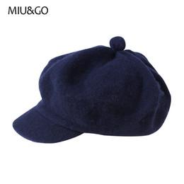 2019 cappelli invernali per gli uomini MIUGO Cappello invernale da spedizione con visiera piatta per uomo e donna berretto in lana autunno visiera e cappelli newsboy 70030 sconti cappelli invernali per gli uomini