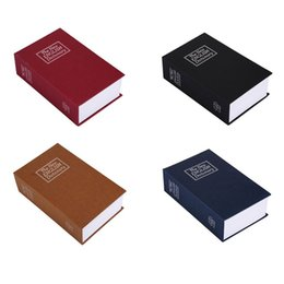 Wholesale vintage bookings - Vintage Book Shape Piggy Bank Creative Money Storage Boxes Safety Piggy Banks With Lock Design Container Many Color 25 5sx C RZ