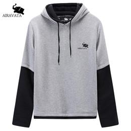 Wholesale Mens Summer Hoodie - Mens Spring Hoodie Summer New Arrivals Crewneck Hoody O Neck Pullover With Hood Printed Brand Sweatshirts Mens Cotton Hoodies