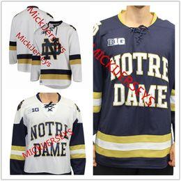 5d56fbea0 college fight NZ - Mens NCAA Notre Dame Fighting Irish College Hockey  Jerseys White Gold Stitched