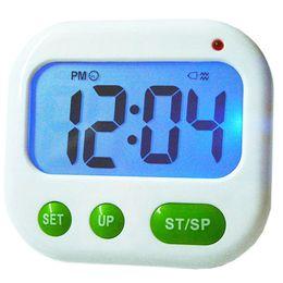 cuenta atrás Rebajas Reloj despertador digital LCD 24 horas Cocina Reloj deportivo temporizador nocturno (música / vibración)