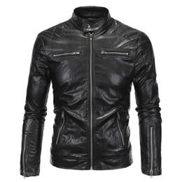 stand für moto Rabatt New Spring Herbst Lederjacke Männer Slim Standard Stehkragen Jacke Kunstleder Moto Coat Wildleder