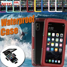Wholesale heavy bag cover - Waterproof Full Body Case For iPhone X 8 7 Plus 6S 6 Hybrid TPU+PC Heavy Duty Water Resistant Sports Underwater Diving Bag Cover