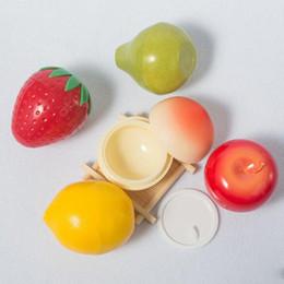 30g Sahneglas Leere Kunststoff Verpackung Box Kosmetik Container Obst Form Cosmetc Creme Container mit Deckel von Fabrikanten