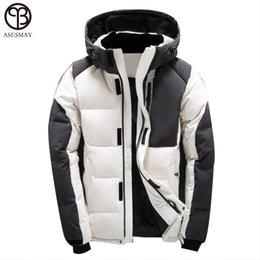 ed28408eef42 Asesmay Men Winter Jacket White Duck Down Parka High Quality Winter Coats  Hooded Goose Feather Men s Down Jacket Thick Snow Coat