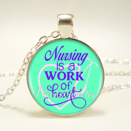 Wholesale Blessing Fashion - 12pcs lot Bless Your Heart Smile Sparkle Shire 10 Style Quote Pendant Necklace Long Chian Statement Handmade Fashion Necklace Jewelry