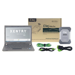 Wholesale Diagnosis Mercedes Benz - WLAN JDiag Elite II Pro With Laptop For Mercedes Benz Diagnosis Scanner DAS Xentry Similar with Star Diagnostic SD Connect Compact C4