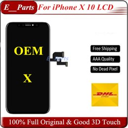 Wholesale oem assembly - (100% Full Original OEM)~!!!!! For Best quality iPhone X LCD Display &Touch Screen Digitizer full Assembly & perfect 3D Touch