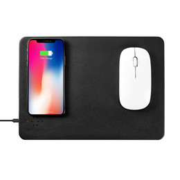 2019 пурпурные коврики для мыши Wireless Charging Leather Mouse Pad 2 in 1 Fast Charging Mouse Mat with LED Indicator for iPhone, & All Device