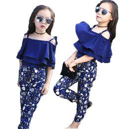 Wholesale Plaid Tutu - 2018 Girls Set Clothes Kids Fashion Top Pant Two Piece Children Summer Suit Girls Boutique Outfits