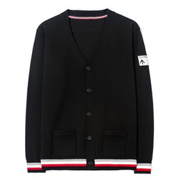 Wholesale Korean Wool Clothes - Sweatercoat 2018 Men Sweaters Cardigan knitted Casual Plus Size Korean Men's Top Unif Jumper Knitwear Black Clothes Streetwear