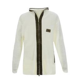 Moda de punto suéter de la capa de los hombres negro / blanco / gris Otoño Invierno Pullover Zipper Button Top blusa # 1022 487-733g desde fabricantes