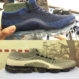 Wholesale Rainbow 45 - Top Quality 2018 New Rainbow VaporMax Knit Air Cushion Fashion Athletic Sport Shoe Hot Corss Hiking Jogging Walking Outdoor Shoe size36-45