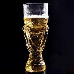 Wholesale Football Bearing - 28 oz bear cup 2018 world cup football fans gift glasses cup heat resisting championship trophy 850ml bar bear mug