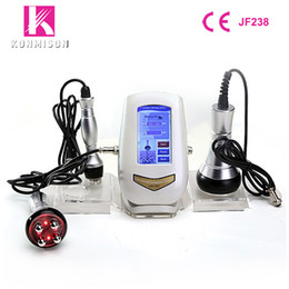 Wholesale slimming weight loss machine - Ultrasonic Cavitation RF Slimming Machine 3 In 1 Mini Size For Home Use Weight Loss Skin Tightening Face Lifting
