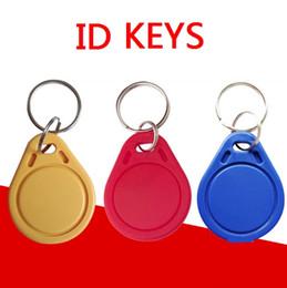 2019 token de cartão de identificação 125Khz chave RFID Token Proximidade keyfobs Tag controle de acesso para RFID Copiadora Pulseira 3 COR Smart Card ID Keyfobs token de cartão de identificação barato