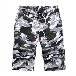 Wholesale New Fashion Camouflage Clothing - 2017 New Summer Style Casual Fashion Men's Shorts Straight Knee Length Camouflage Brand Clothing Hot Sale Plus Size Short Male