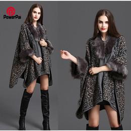 Wholesale Leopard Print Faux Fur Coats - Wholesale-Big Long Vogue Sexy Leopard Fur Coat Cloak Shawl Cashmere Faux For Fur Cardigan Jacket Parka Women Spring Winter New Collections