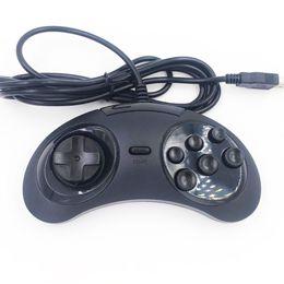 Giochi classici di sega online-6 pulsanti classico SEGA USB Gamepad USB Game Controller Joypad per SEGA Genesis / MD2 Y1301 / PC / MAC Mega Drive