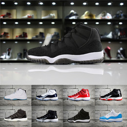 Wholesale Red Shoe Laces 72 - 2018 XI 11 PRM Heiress Space Jam Bred Basketball Shoes Men Women 11s Concords 72-10 Legend Blue win like 82 Sneakers 5.5-13