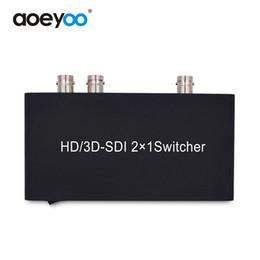 Wholesale Hd Sdi Hdmi Converter - AOEYOO Converter HDMI SDI Switcher 2X1 HD Switch 2 SDI Signal to 1 SDI Output Converter for 3G HD SD Monitor Camera Video