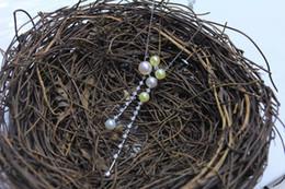 bellissimi ciondoli eleganti Sconti Nuovo arrivo 5-7mm perla Akoya collana in argento 925 ciondolo elegante collana con belle perle naturali per donna regalo