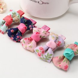 Wholesale Cheap Gift Bows - New Fashion Lovely Children Baby Headwear Handmade Hairpin Hair Clip Bow Flowers Hair Accessories for Women Girl Gift Cheap