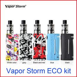 meilleur e boîte à cigarettes mod Promotion Vapor Storm ECO Kit d'origine 2.5ml 90W vape mod box avec Vapor Storm Tank E Kit de Cigarette Kit de démarrage correspondant