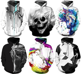 Wholesale women autumn coats - 2017 Christmas Santa NWT Autumn Winter 3D Animal Print Fashion Sport Women Hoodies Coat With Hat Pocket Digital Print Hooded Pullovers S~2XL