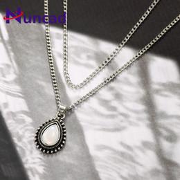 2019 truthahncharme 2018 Trend Vintage Multilayer Kristall Halskette Charme Türkei Stil Legierung Galvanisieren Anhänger Halsketten Frau Collier rabatt truthahncharme