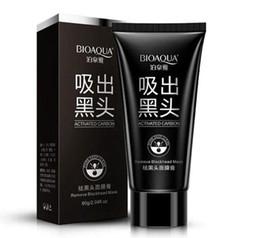 Удаление носа онлайн-BIOAQUA глубокое очищение Черная грязь маска для лица удалить угри маска для лица клубника нос акне remover уход за лицом