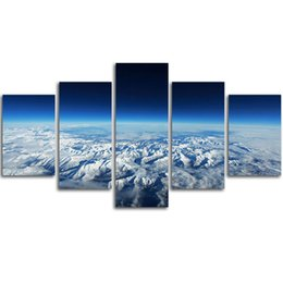 Wholesale Mountain Posters - MingTing - 5 Panel Canvas Wall Art Wonderful Mountains Landspace Poster Painting Modern Home Decor For Living Room Study Room No Frame