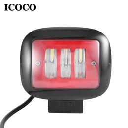 led work lights venda Desconto ICOCO 30 W Alto Brilho LEVOU Farol À Prova D 'Água LEVOU Luz de Trabalho com 3 pcs * 10 W LEDs Para Caminhão Trator Off-Road Carros venda