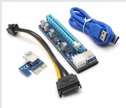 Wholesale Miner Led - TOP-AAAAA FAST PCI-E VER 008C 009S VBitcoin Ver008C With LED VER009S Gold Plated Miner Riser Express 1X 16X Graphics Card USB 3.0 Power SAVE