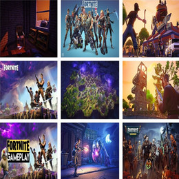 Wholesale game television - Fortnite Battle Royale Game Poster Wall Painting Posters And Prints Art Wall Pictures Game Poster Wall Stickers T2I394