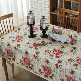Wholesale Cotton Square Crochet Tablecloth - European-style cotton and linen tea table cloth art table linen Japanese style tablecloth hotel household meeting photography customization.