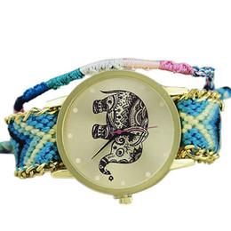 Handmade Braided Friendship Bracelet Watch Women Elephant Watch Casual  ladies Quarzt reloj mujer 11adde430368