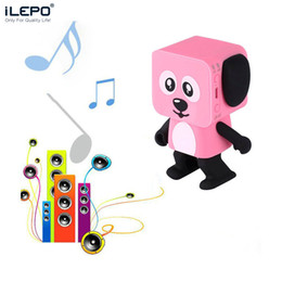Wholesale Toy Speakers - 2018 on sale Bluetooth Speaker Smart Dancing Dog wireless Speakers New Multi-function mp3 player dog toys white black pink Creative Gift