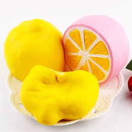 Wholesale Lemon Toy - Cute Squeeze Toys Large Size Jumbo Slow Rising Squishy Charm Kawaii Squishies Half Lemon Fruit Scented Decompression Anxiety Toy For Adult