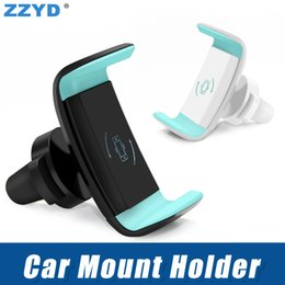 Wholesale air vents - ZZYD Car Mount Phone Holder Air Vent 360 Degree Rotate Mount Cellphone Grip Safer Driving For iP X 8 6 inch Universal Phone