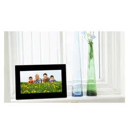 Wholesale plug alarm - 7inch HD LCD Digital Photo Frame Built-in Stereo Speakers with Alarm Clock Slideshow MP3 4 Player With US Plug Charger #S