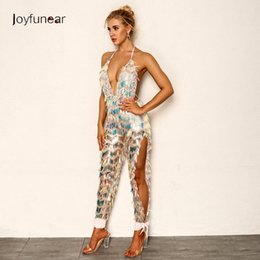1198bb4cf4e Joyfunear 2018 Latest Autumn Sexy Rompers Womens Jumpsuit Backless Bodycon  Jumpsuits V-Neck Bandage Overalls Clubwear wholesale Y1891807