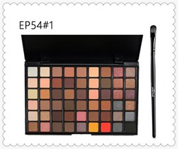 Wholesale Ground Earth - High quality Shimmer Matte Earth Color popfeel 54 color eyeshadow ground Color Matte makeup disk EP54 cosmetics lipstick mor mua naked lorac