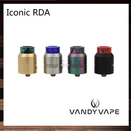 Wholesale tube clamps wholesalers - Vandy Vape Iconic RDA 24mm Side and Bottom Tubes Airflow System Clamp Posts Design With Delrin Doc and Frosted Doc Tip 100% Original