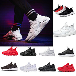 Wholesale Iv 11 - wholesale Huarache 1 IV 4 mens Running Shoes Ultra Run triple White Black red grey Huaraches Shoe Men Women sport Sneakers us5.5-11