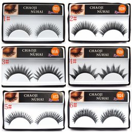 Wholesale Synthetic Hair Strip Extensions - 10 Style Natural false eyelashes Sootiness Makeup Eye Lashes Thick False Extension False Eyelash Beauty EEA105